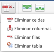 Eliminar tabla en Office para Mac