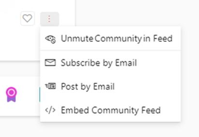 Captura de pantalla que muestra cómo reactivar una nueva comunidad de Yammer