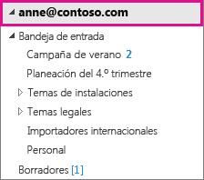 Cuenta de Outlook