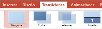 Transiciones de PowerPoint para Mac