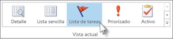 Clic en Lista de tareas pendientes