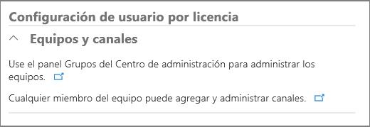 Configuración de usuario por licencia