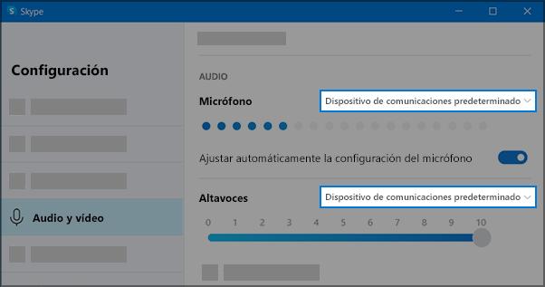 Configuración de Skype