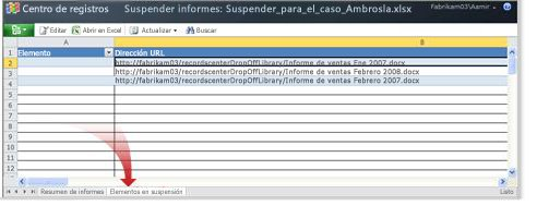 Informe de suspensión