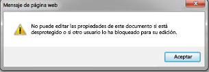 Mensaje que le notifica si otro usuario ha bloqueado el archivo