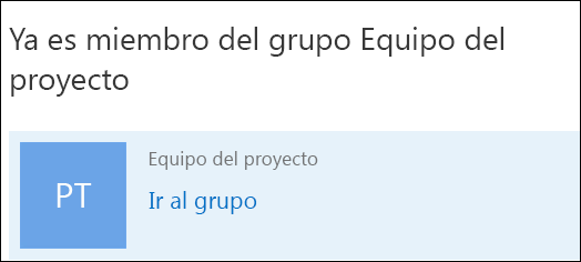 Unirse a un grupo en Outlook