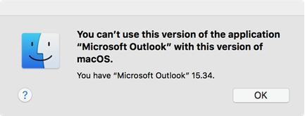 """Error: """"No puede usar esta versión de la aplicación"""""""