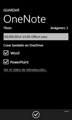 Enviar imágenes a Word y PowerPoint en OneDrive