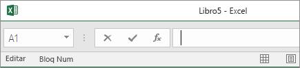 Pestañas de la hoja de cálculo que desaparecen cuando la barra de estado se arrastra hasta la barra de fórmulas