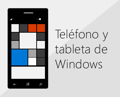 Haga clic para configurar Office y el correo electrónico en teléfonos Windows.