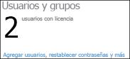Panel de administración: usuarios y grupos