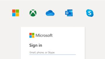 Imagen de inicio de sesión con la cuenta de Microsoft