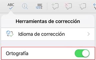 Activar la revisión ortográfica