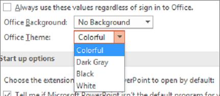 Cambiar los temas de Office automáticamente
