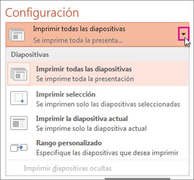 Configuración de impresión