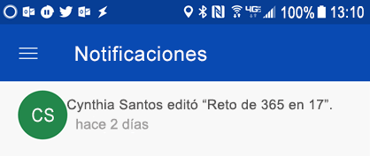 Obtener notificaciones en el centro de notificaciones Android cuando colleages editar sus archivos compartidos