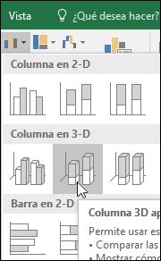 Gráficos de columnas apiladas en 3D