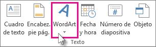 Haga clic para agregar WordArt
