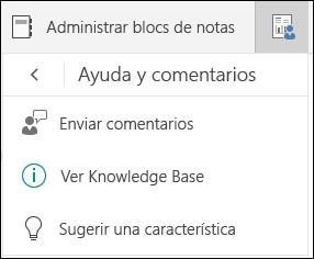 Administrar las opciones de selección de los blocs de notas