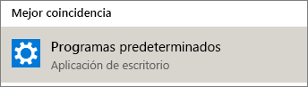 Programas predeterminados en Windows