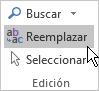 En Outlook, Formato de texto, en Edición, elija Reemplazar.