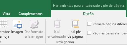 Desglose de la barra de herramientas Diseño de Excel