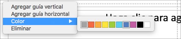 Use guías de múltiples colores para ayudarle a lograr la presentación perfecta.
