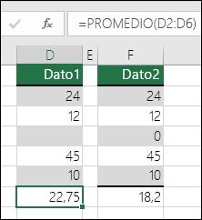 Excel muestra un error cuando una fórmula hace referencia a celdas vacías