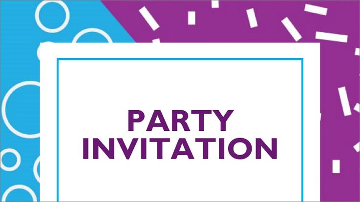 Plantilla de invitación a fiesta