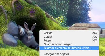 Diapositiva que contiene una imagen y el comando Guardar como imagen seleccionado en el menú contextual