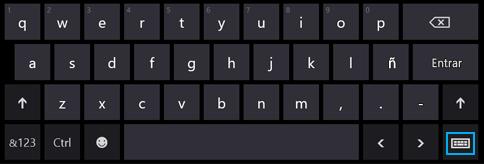 Bot?n de teclado t?ctil