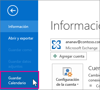 guardar un archivo ics de calendario
