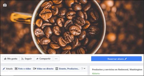 Captura de pantalla: Microsoft Bookings después de conectarlo con una página de Facebook.