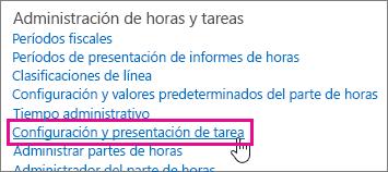 Configurar tareas y su presentación