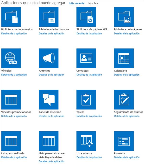 Captura de la primera pantalla de la página Mis aplicaciones.