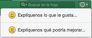 Captura de pantalla en la que se muestra el botón de comentarios en Excel