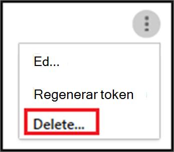 Para eliminar a un agente de SIEM, elija los puntos suspensivos y, a continuación, elija Eliminar.