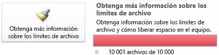 Contador de documentos de SharePoint Workspace con 10.000 documentos o más