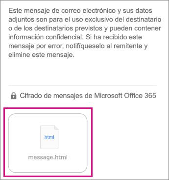 Visor de OME para iOS aplicación de correo 1