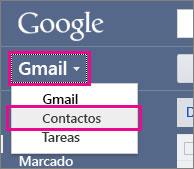google gmail - haga clic en contactos