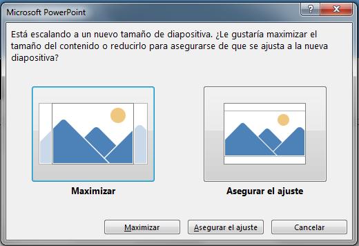 Si elige maximizar, puede que parte del contenido supere los márgenes de impresión, como puede ver en la imagen de la izquierda.