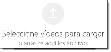 Office 365 vídeo seleccionar vídeos para cargar