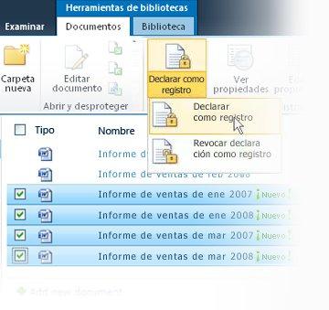 Declarar varios elementos como registros