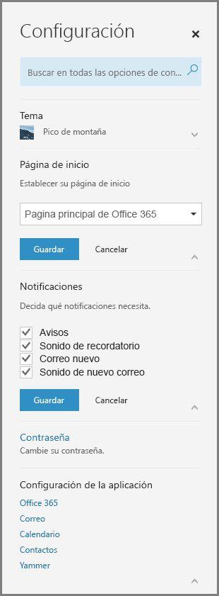 Notificaciones de Office 365