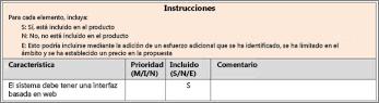 Fragmento de la característica de selección de hojas de cálculo