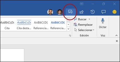 Icono Chat en Word