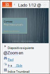 Vista Diapositiva en el visor de PowerPoint para móvil