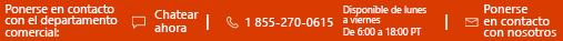 Opciones de contacto con el departamento de ventas en products.office.com.
