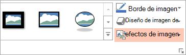 Muestra el botón de diseño de la imagen en la ficha Formato