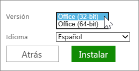 Seleccionar 32 bits o 64 bits
